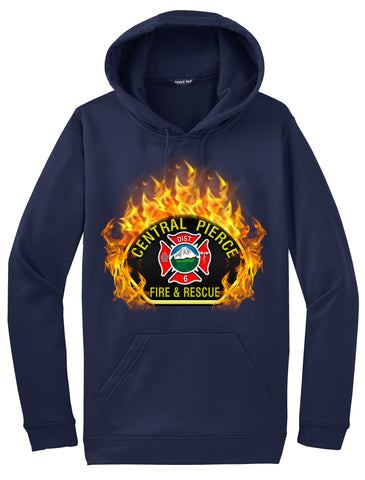 "Central Pierce Fire and Rescue ""Fearless Flames"" Navy Hoodie  #33972"