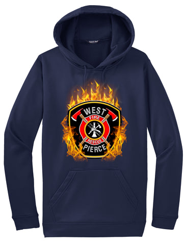 "West Pierce Fire and Rescue ""Fearless Flames"" Navy Hoodie  #33973"