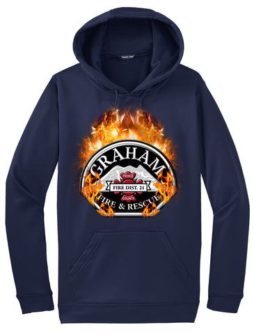 "Graham Fire and Rescue ""Fearless Flames"" Navy Hoodie  #33974"