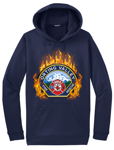 "Orting Valley Fire and Rescue ""Fearless Flames"" Navy Hoodie  #33976"