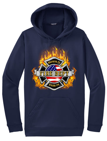 "Browns Point Fire Department ""Fearless Flames"" Navy Hoodie  #33995"