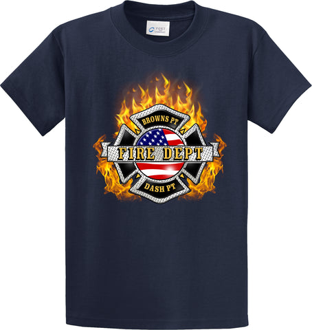 "Browns Point Fire Department ""Fearless Flames"" Navy T-Shirt #33995"
