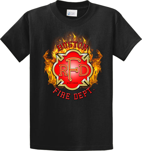 "Ruston Fire Department ""Fearless Flames"" Black T-Shirt #34000"