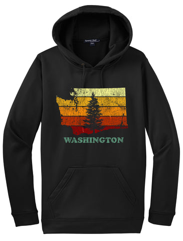 Retro Washington State Hoodie  #34188