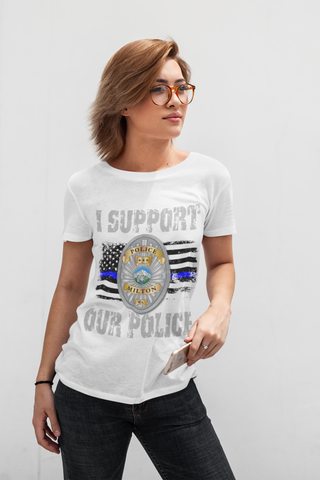 "Milton Police T-Shirt ""I Support"" #33488"