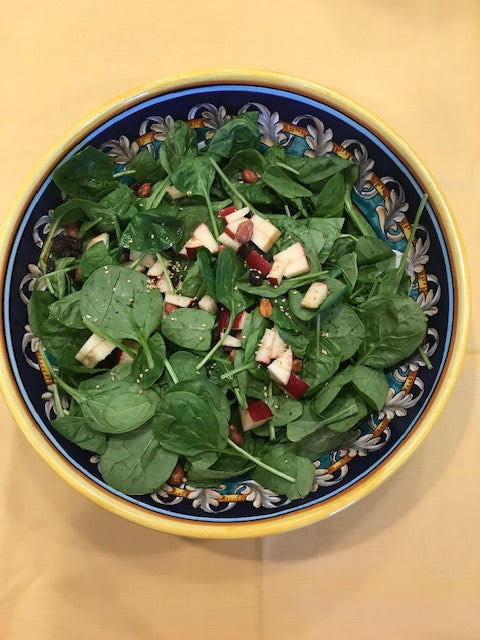 Spinach Chutney Salad Recipe