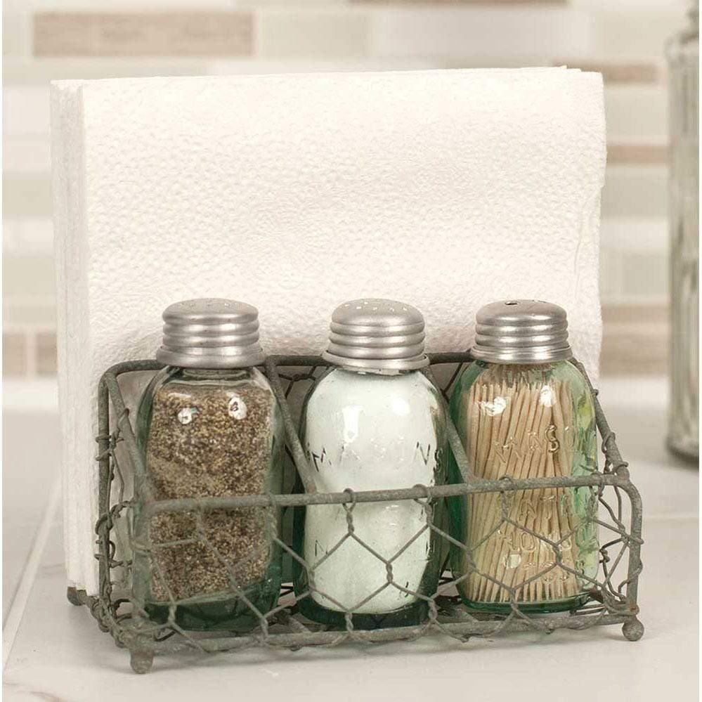 Warren Ranch and Home  Kitchen Tools Chicken Wire Salt and Pepper Caddy