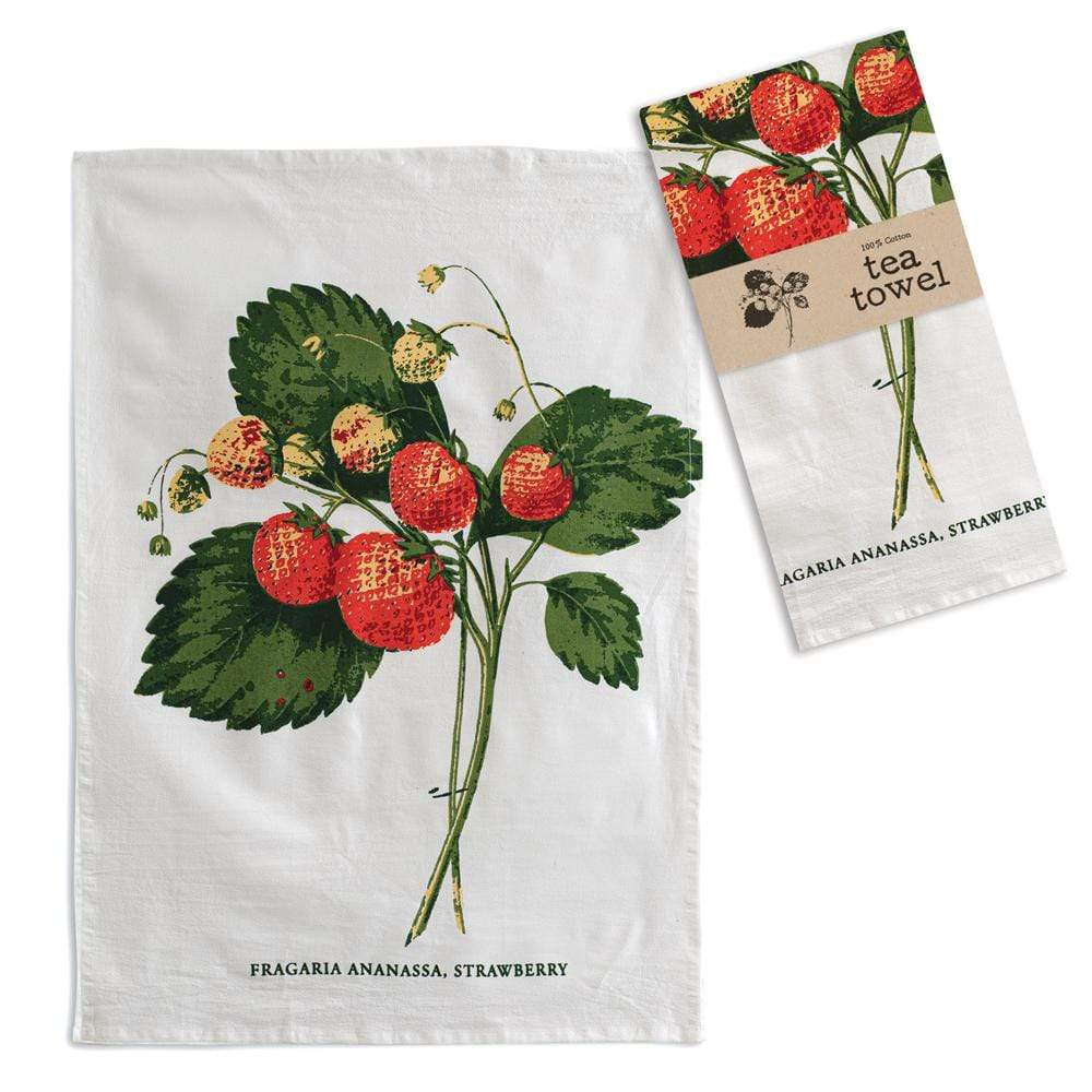 Warren Ranch and Home  Linens and Accessories Strawberries Tea Towel