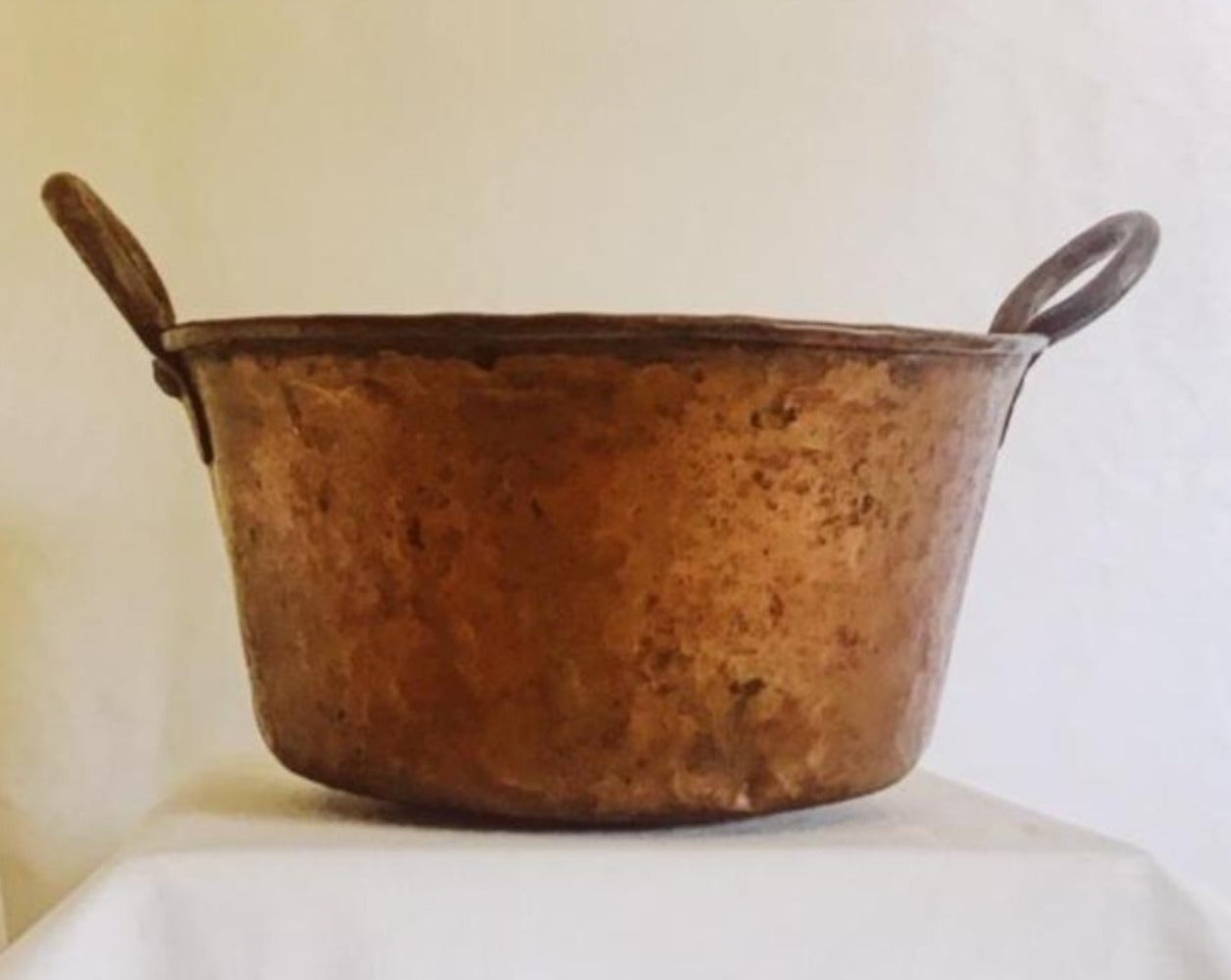 Warren Ranch and Home Metal Accessories Vintage Copper Pot