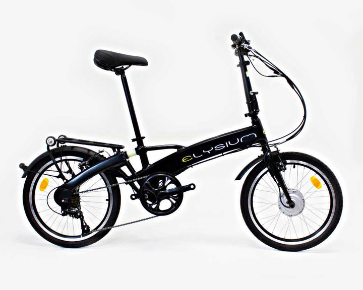 "Loop Folding Bike 10Ah Black colour with 20"" wheels."