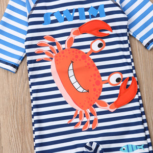 Happy Crab Swimsuit Set