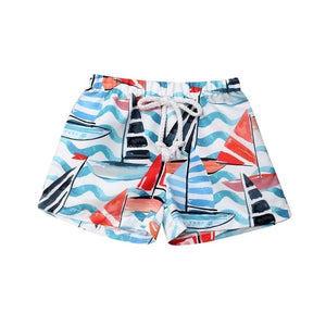 Out At Sea Nautical Swim Trunks