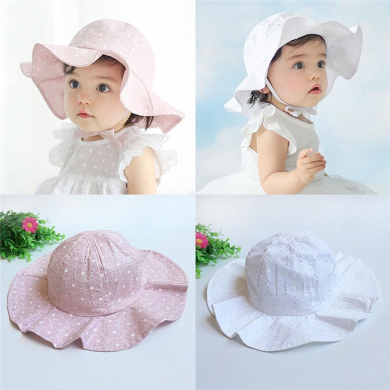Flower Petal Wide-Brim Hat