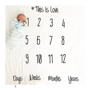 Growing Up Fast Baby Blanket