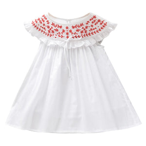 Dainty Summer Embroidered Dress