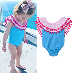 Playful Pompom Swimsuit