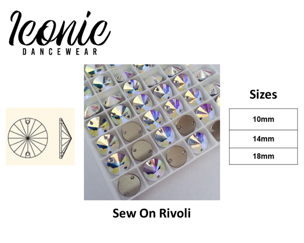 Crystal Rivoli - Crystal AB - Sew on