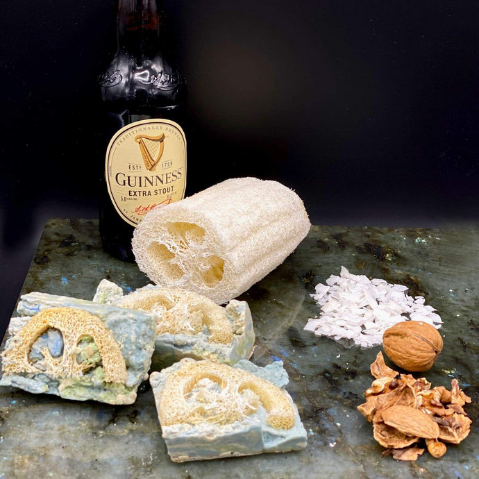Guinness Stout, Loofah and Exfoliant Soap