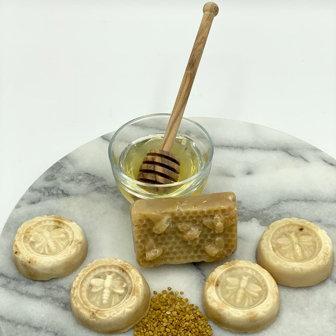 Honey, Pollen, and Beeswax Soap