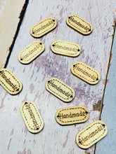 Load image into Gallery viewer, 20 x sew on handmade wooden craft tags - plain or coloured