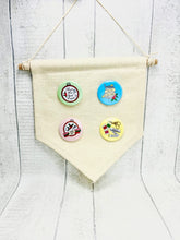 Load image into Gallery viewer, Hanging Pin Badge / Needle Minder  Storage Display Flag - Small