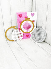 Load image into Gallery viewer, Cross stitch hoop metal cutting dies set for scrapbooking, planning, journaling and card making