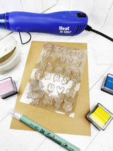 Load image into Gallery viewer, Silicone Balloon Alphabet Craft Stamps For Planning Journalling Scrapbooking and Card Making