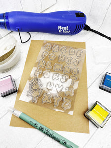 Silicone Balloon Alphabet Craft Stamps For Planning Journalling Scrapbooking and Card Making