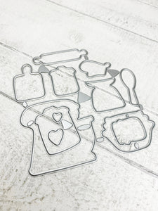 Baking Recipe Stamps and Metal Dies For Planning Journalling Scrapbooking and Card Making