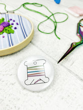 Load image into Gallery viewer, Magnetic Needle Minder / Button Badge - Thread Bobbin