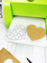 Load image into Gallery viewer, Heart jigsaw metal cutting dies set for scrapbooking, planning, journaling and card making