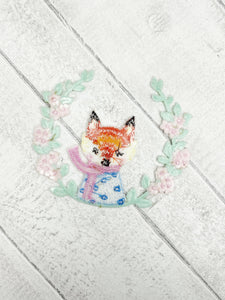 Fox Embroidered Iron On Patch