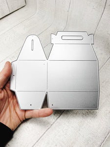 Small gift box metal cutting die - two cutouts make one box (base length 8cm).