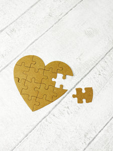 Heart jigsaw metal cutting dies set for scrapbooking, planning, journaling and card making