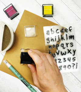 Silicone Alphabet and Number Craft Stamps For Planning Journalling Scrapbooking and Card Making