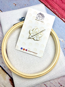 Cactus Modern Cross Stitch Kit #3 10cm Hoop With Enamel Needle Minder