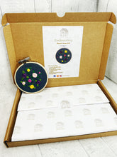 Load image into Gallery viewer, 3 inch Floral Embroidery Hoop Beginner Kit #3