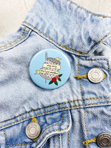 Snarky Button Badge / Magnetic Needle Minder - Stay Sexy Don't Get Stabbed