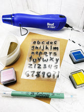 Load image into Gallery viewer, Silicone Alphabet and Number Craft Stamps For Planning Journalling Scrapbooking and Card Making