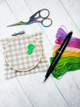 Load image into Gallery viewer, Iridescent rainbow stork embroidery scissors