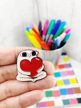 Load image into Gallery viewer, Enamel Pin Badge / Needle Minder - Valentines Heart Gift