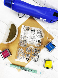 Silicone Cat Craft Stamps For Planning Journalling Scrapbooking and Card Making