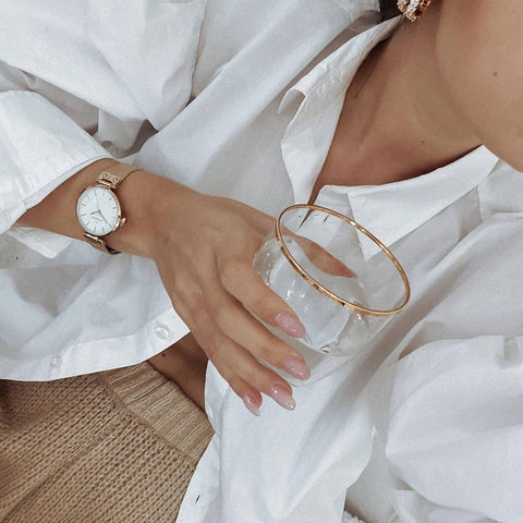 Mesh watches and Sparkle hoops which are restocked make for a perfect gift idea this valentines day. Selflove.