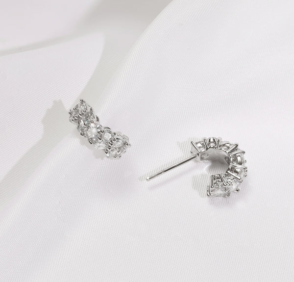 Queen Earrings Silver