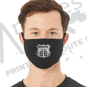 Route 66 Grunge 2-Ply Reusable Face Mask