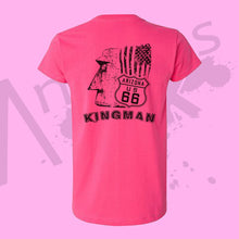 Load image into Gallery viewer, Womens PINK - Official Giganticus Headicus® Route 66 Tee