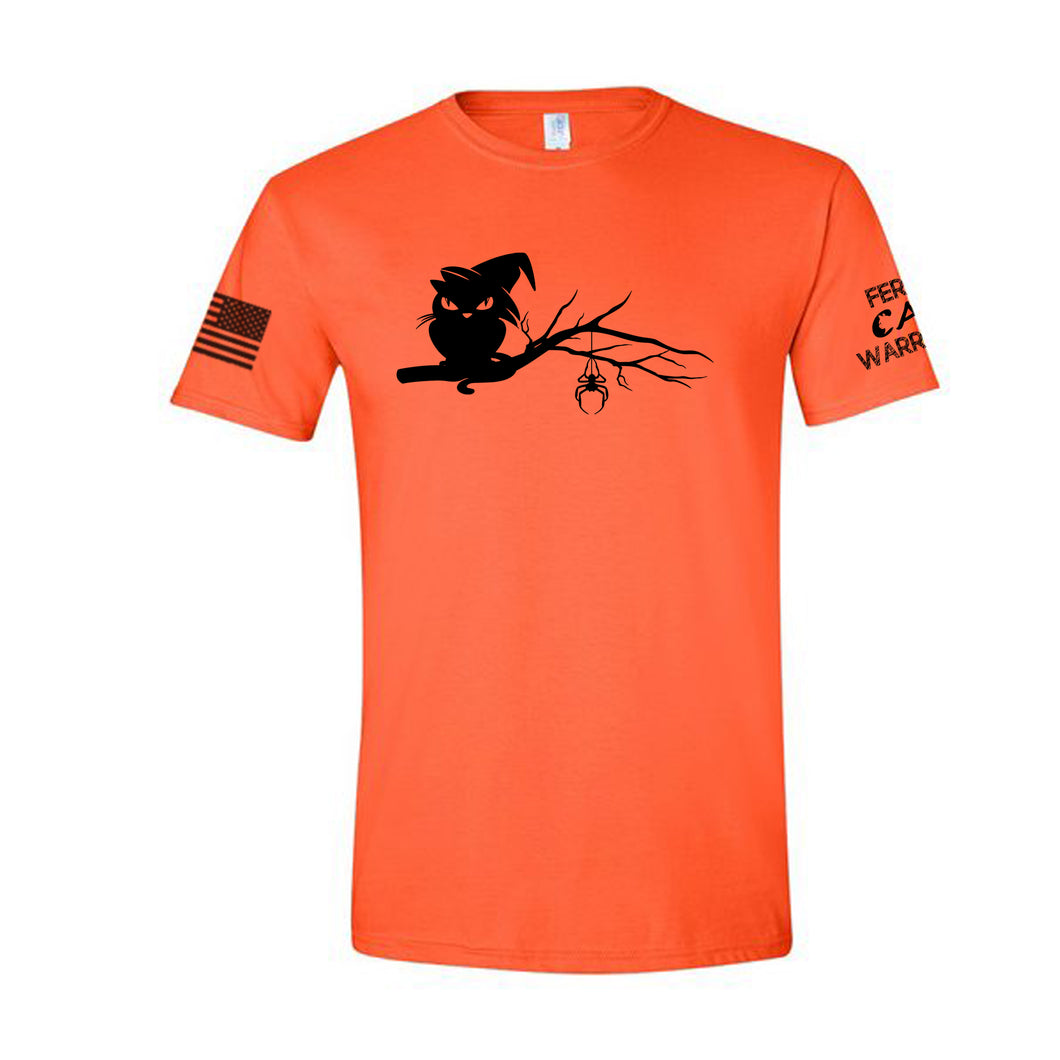 Orange Halloween Cat Shirt