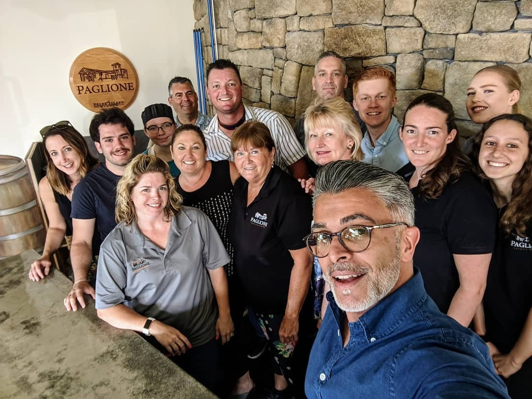 staff photo at paglione estate winery in essex ontario
