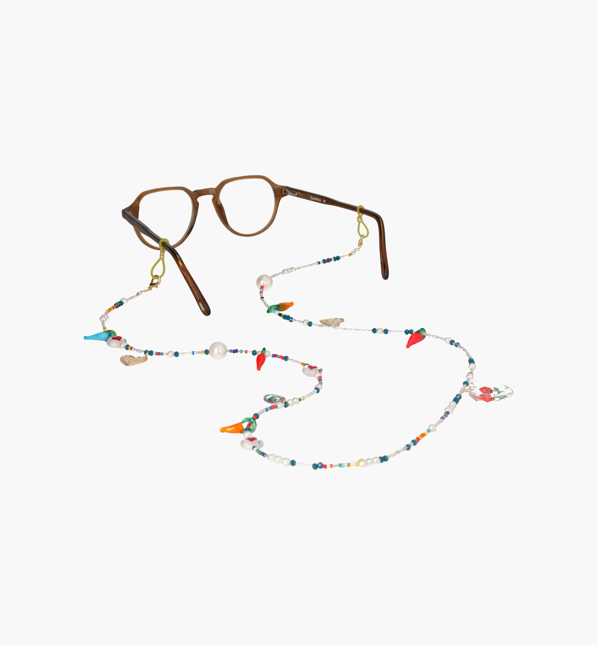 Eyeglass Chain and Hearts