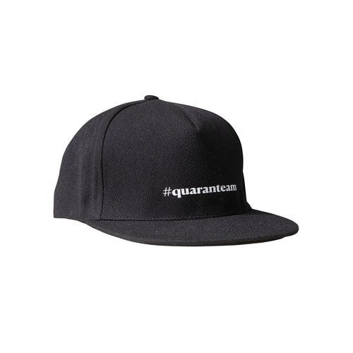 #quaranteam slogan cap in onyx